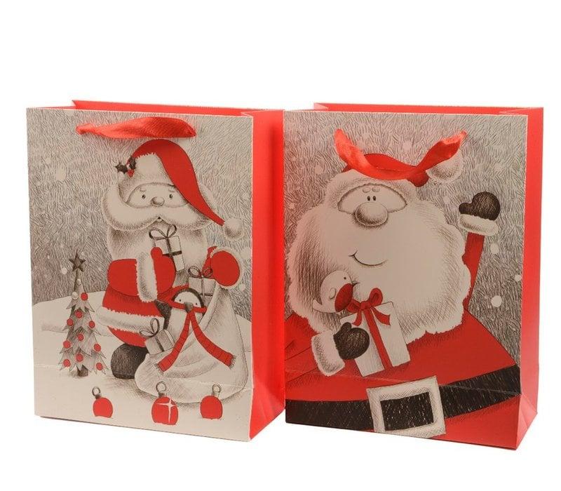 Gift Bag with Santa prints