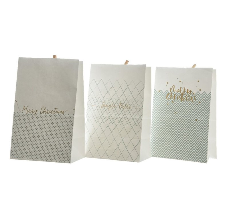 Gift Bag with Peg - Assorted text in White