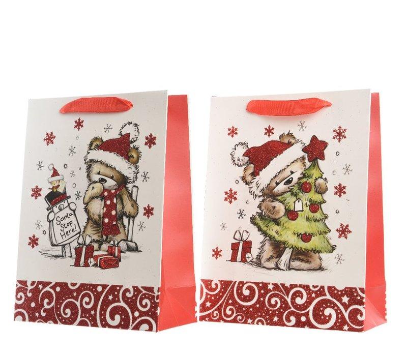 Gift Bag with Christmas Bears - Medium