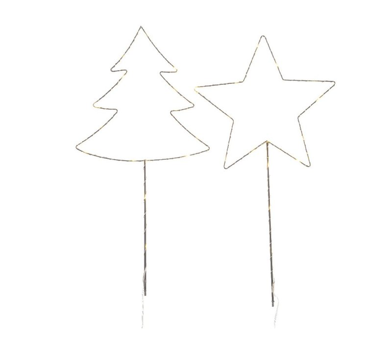 Tree or Star with warm white LED lights