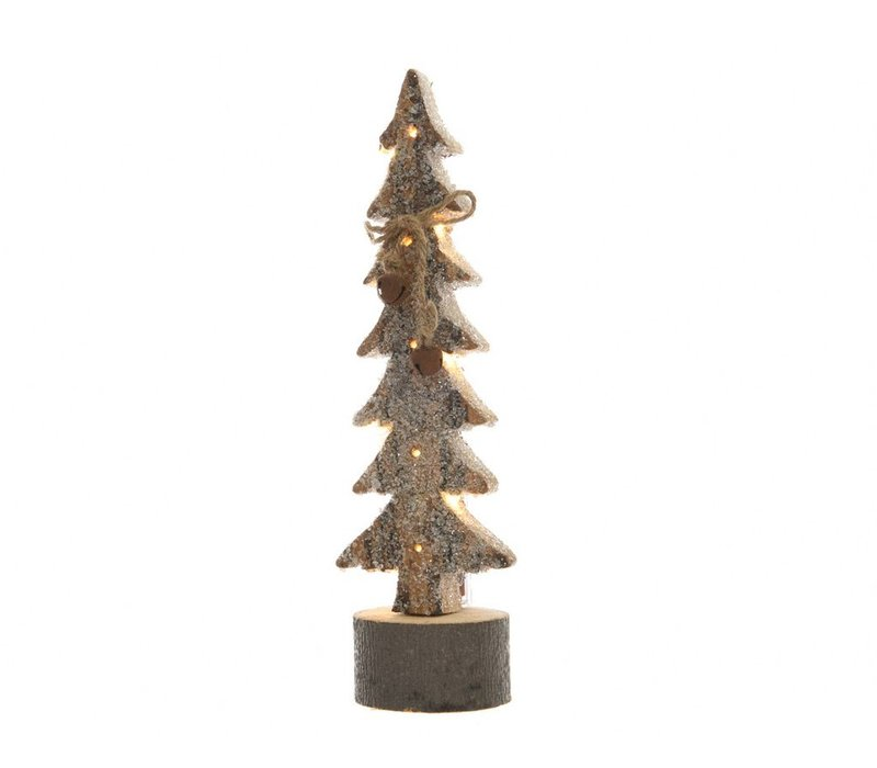 Wooden Tree with LED Lights with bells in small 36cm