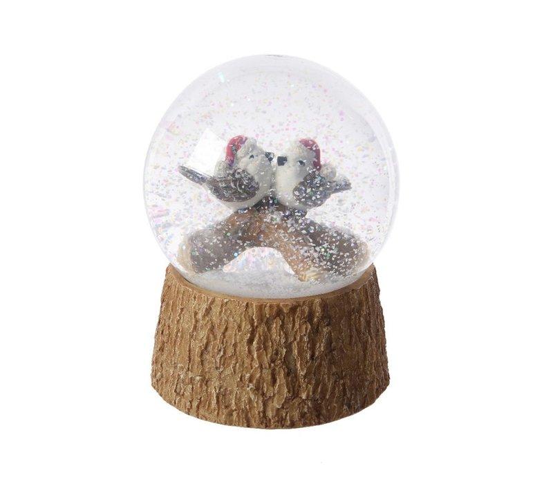 Bird duo in Snow Globe