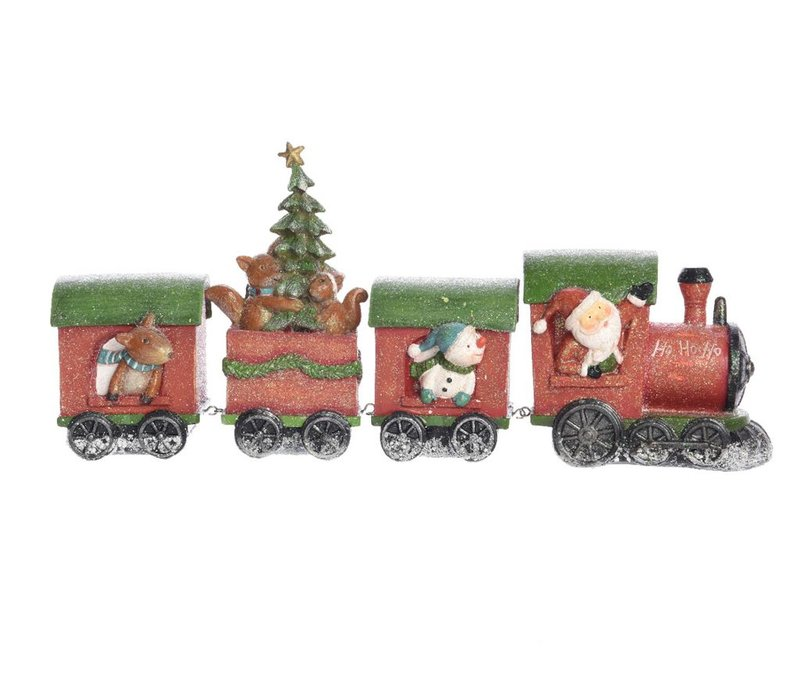 Train in 4 pieces with snow finish
