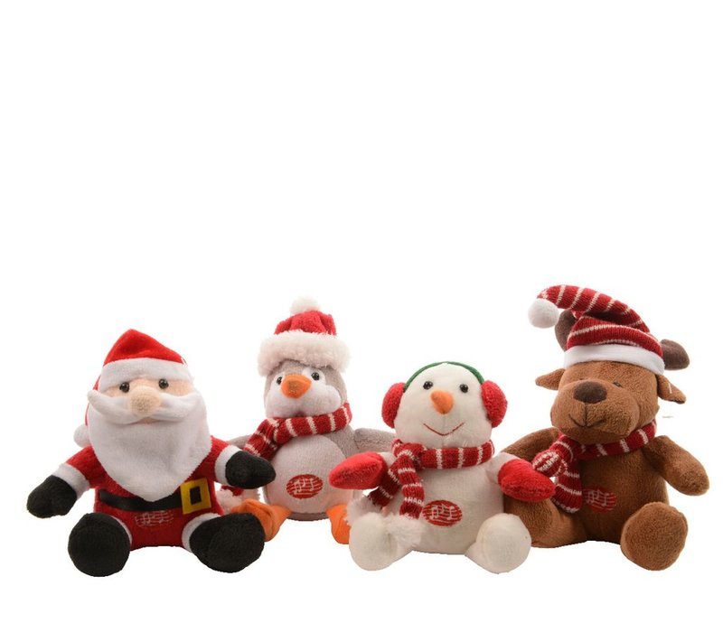 Singing Christmas Figure with Lights - 4 Assorted