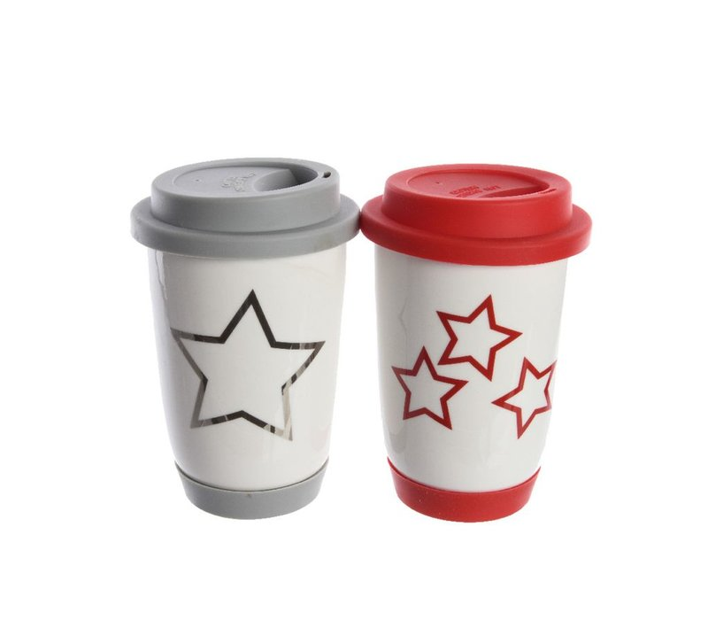 Take away Mug with Star or Snowflake