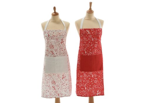 Homestore Christmas Apron in Red & White