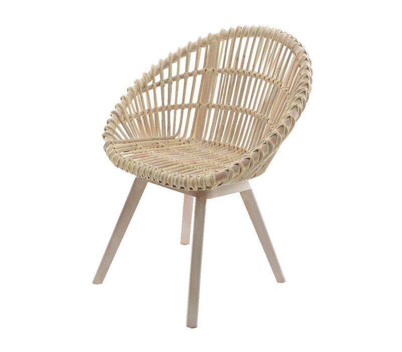 Sicily Chair - Rattan & Mahogany