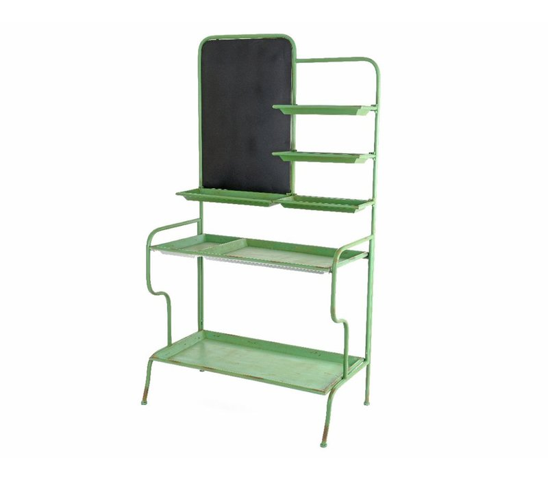 Green Cabinet with 5 Shelves