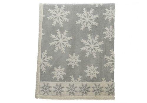 Homestore Grey Snowflake Throw - 130x170cm