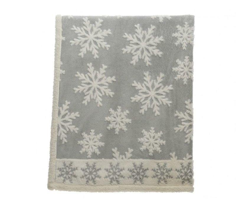 Grey Snowflake Throw - 130x170cm