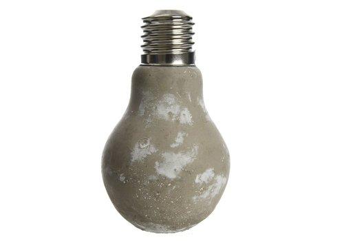 Homestore Concrete Vase - Lightbulb