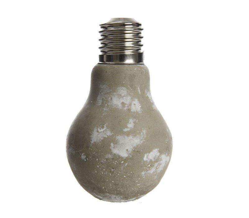 Concrete Vase - Lightbulb
