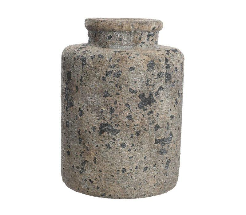 Concrete Vase with Rough Finish - Large