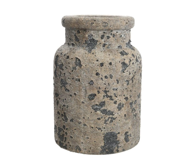 Concrete Vase with Rough Finish - Small