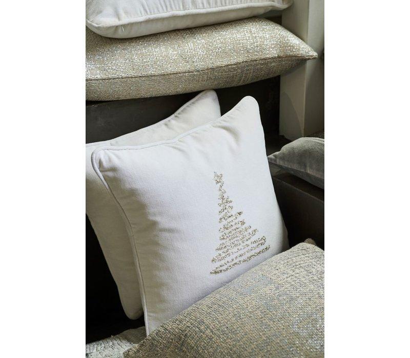 Christmas Tree Cushion - Silver 40x40