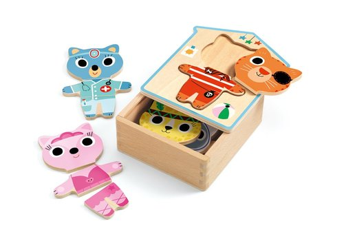 Homestore Wooden Puzzle Dressup - mix