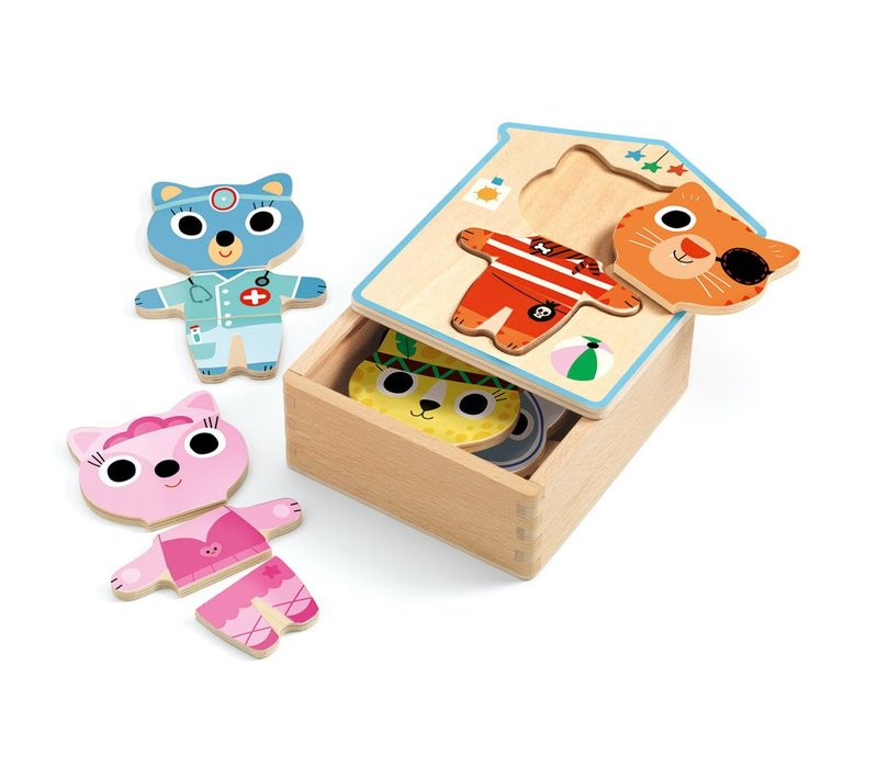 Wooden Puzzle Dressup - mix