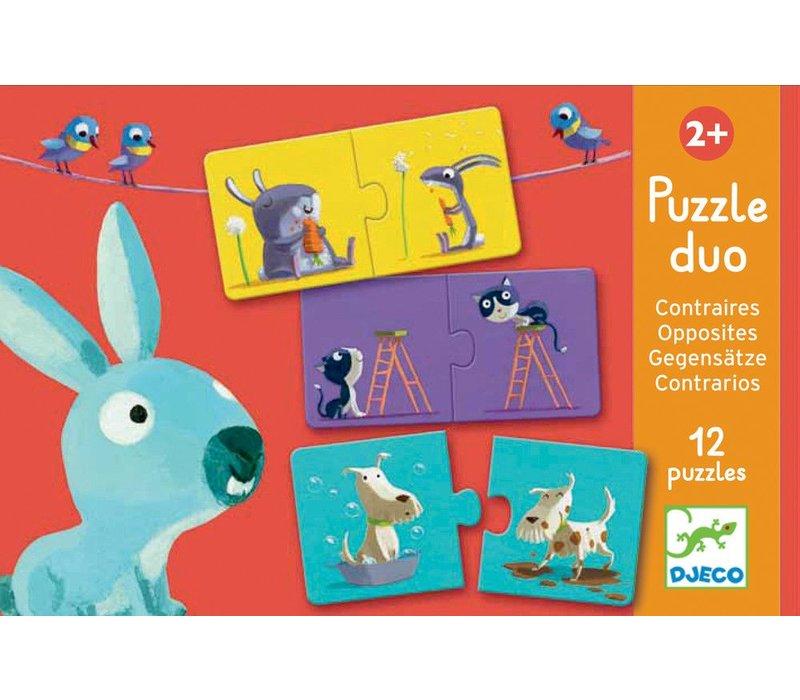 Educational games - Puzzle duo/trio Opposites