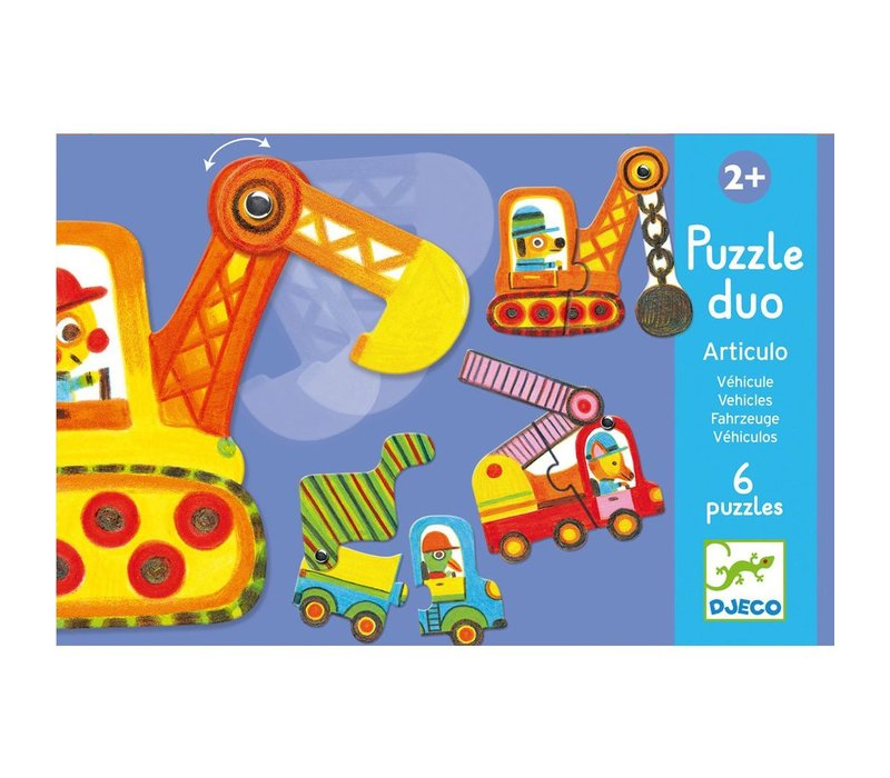 Educational games - Puzzle duo/trio Articulo VÌ©hicles