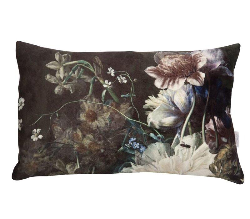 Cushion Botanic Victorian Black 30x43cm