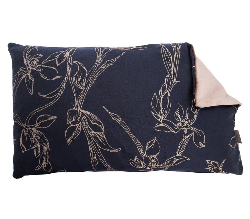Cushion Tulip Tree in Midnight Blue 30x50cm