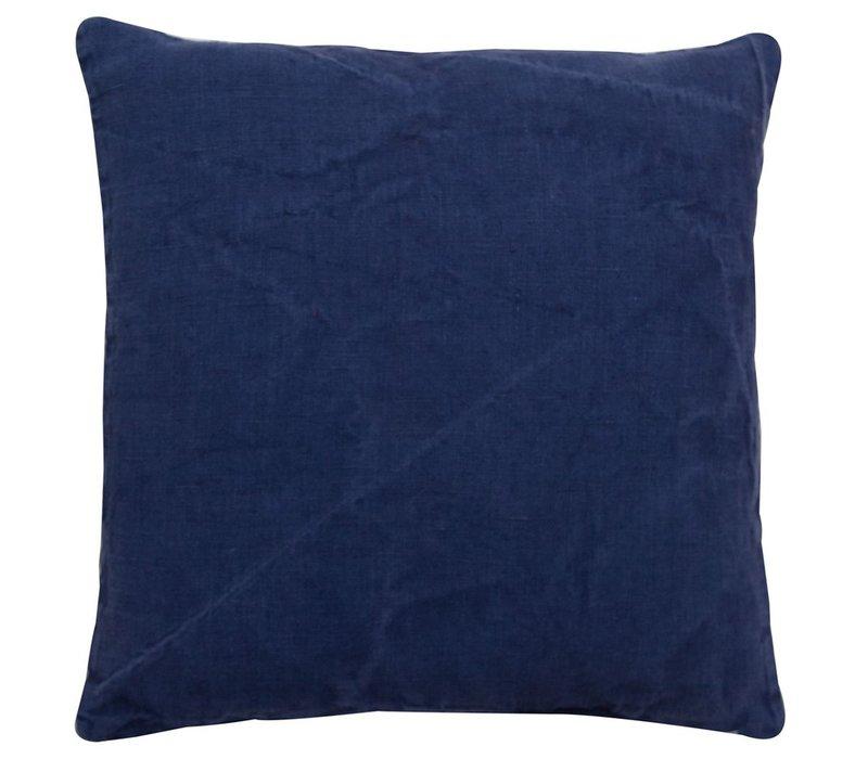 Cushion Linen Basic Oxford Blue 45x45cm