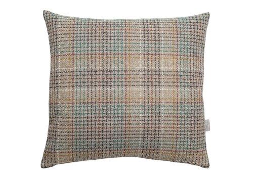 Homestore Cushion Multi Natural, Petrol & Mustard 45x45cm