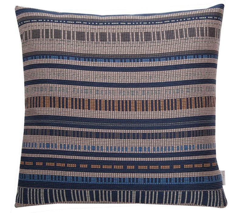 Cushion Mosaic Midnight Blue & Toffee 45x45cm