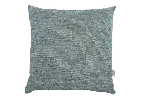 Homestore Cushion Velvet Stripe Petrol 45x45cm