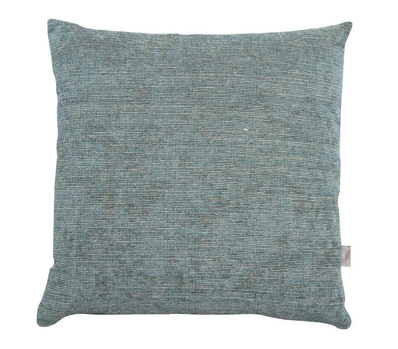 Cushion Velvet Stripe Petrol 45x45cm