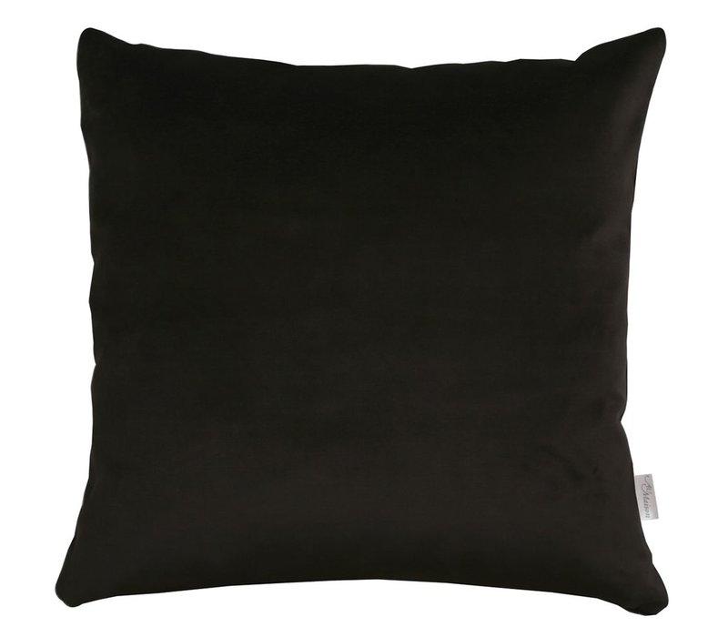 Cushion Velvet Silk Black 45x45cm