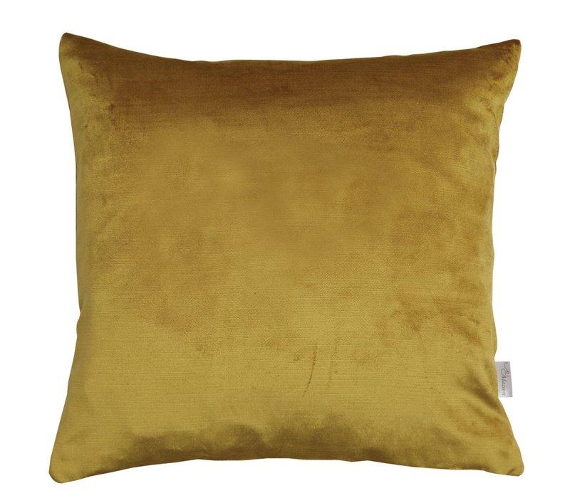 Cushion Velvet Silk in Mustard 45x45cm