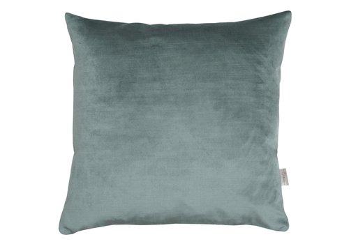 Homestore Cushion Velvet Silk Oil Green 45x45cm