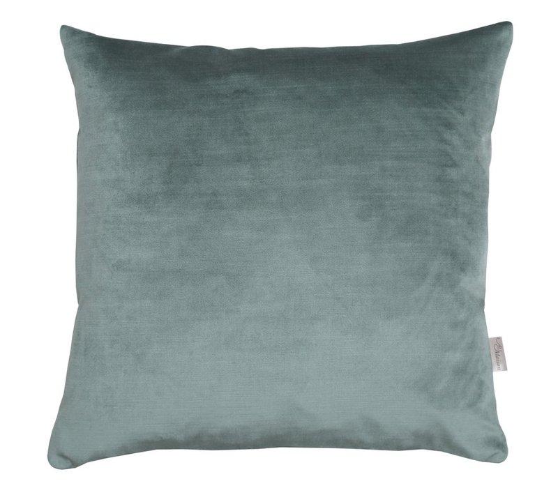 Cushion Velvet Silk Oil Green 45x45cm