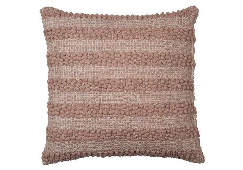 Homestore Cushion Pebble Stribe Powder Rose 40x40cm