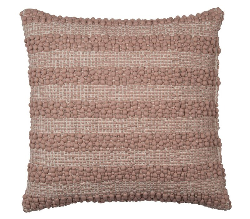 Cushion Pebble Stribe Powder Rose 40x40cm