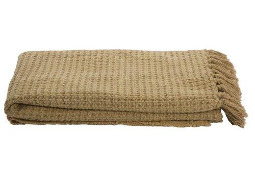 Homestore Blanket Cane Mustard 130x180cm