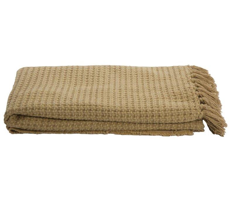 Blanket Cane Mustard 130x180cm