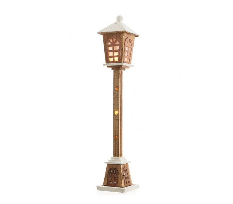Wooden Lamp post with LED's - large