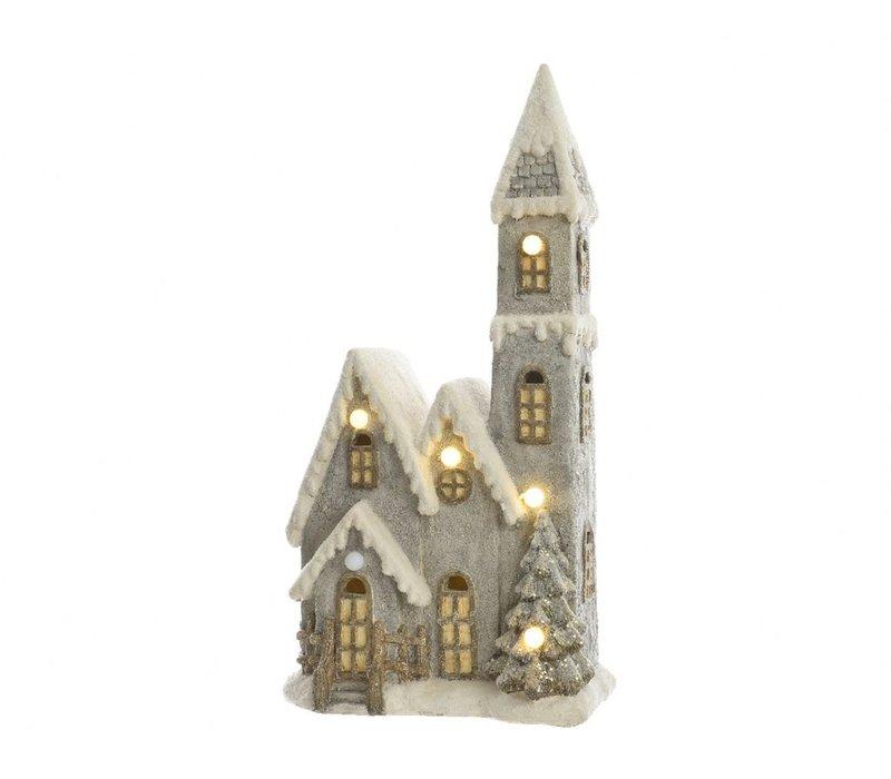 Christmas Church with LED's
