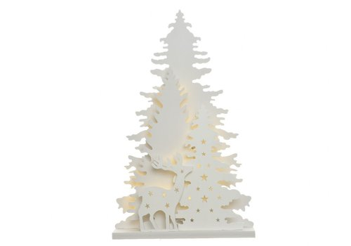 Homestore Tree cut-out with winter scenery & LED's - Small