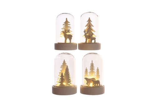 Homestore Christmas scenery in cloche with LED's