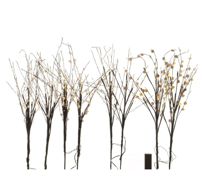 Set of 2 Branches with LED's in 4 assortments