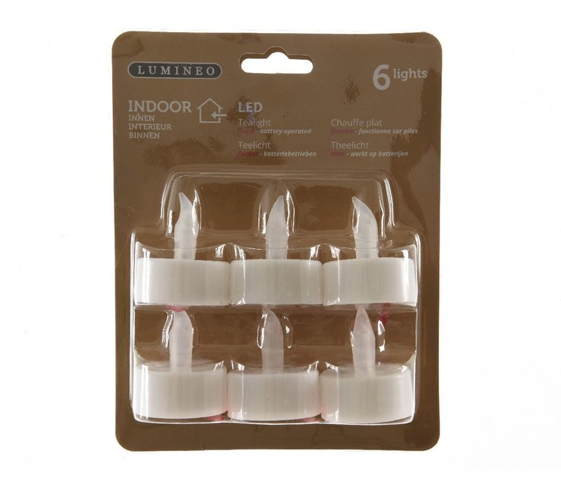 LED tealights pack of 6