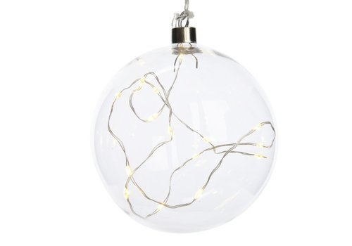 Homestore Glass ball with micro LED's - small
