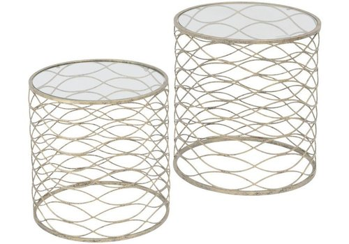 Homestore Gatsby Set Of 2 Gold Nesting Side Tables