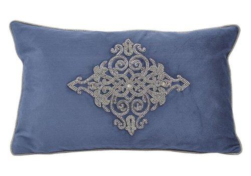 Homestore Pembroke Velvet Rectangular Cushion With Feather Filler
