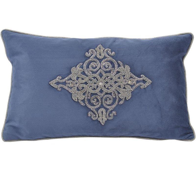 Pembroke Velvet Rectangular Cushion With Feather Filler