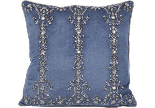Homestore Pembroke Velvet Square Cushion With Feather Filler