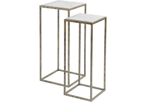 Homestore Mylas Marble Set Of 2 Side Tables